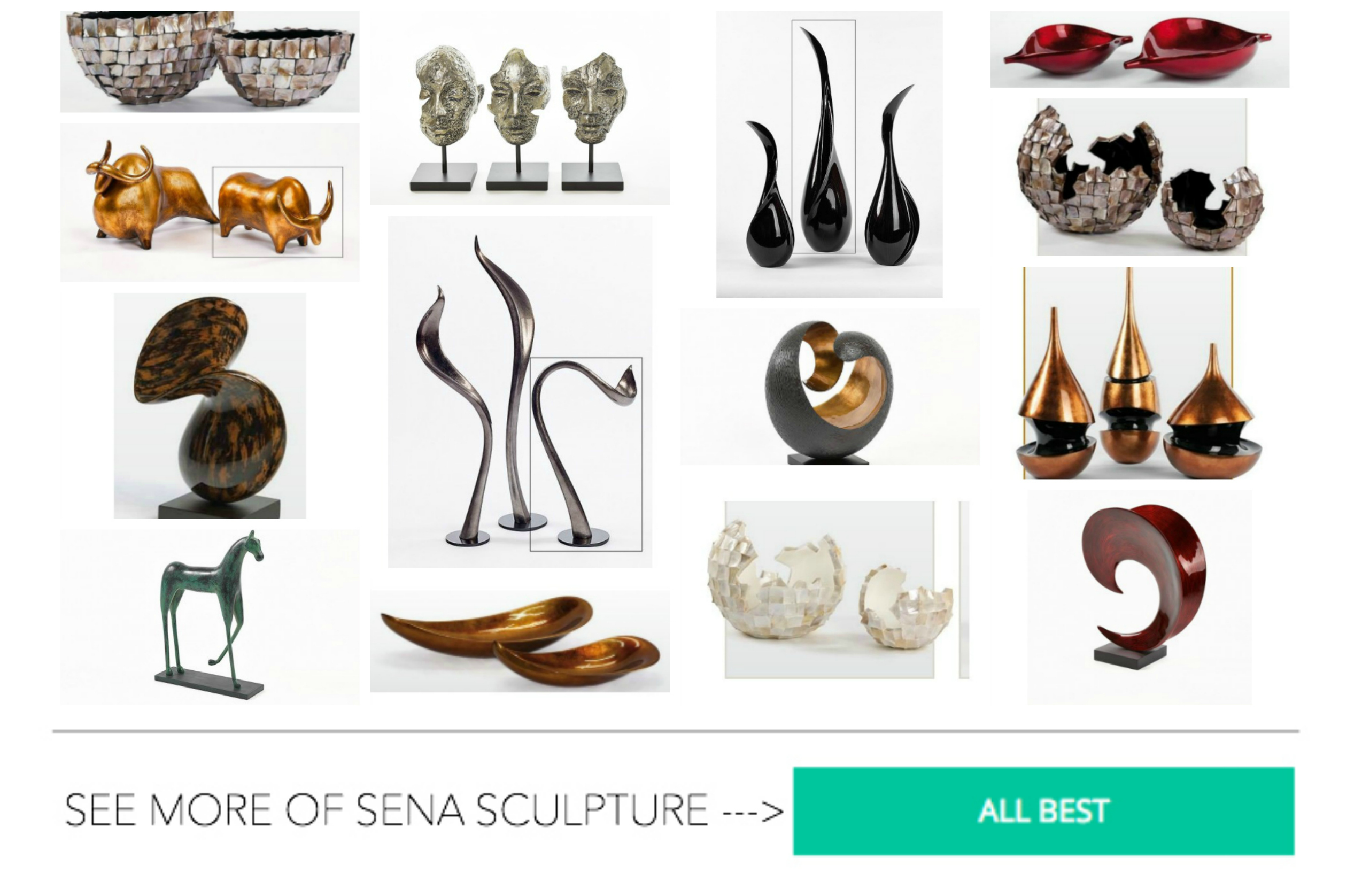 Sculptures and decorative figurines in the arrangement of the apartment. We choose accessories for your home style!