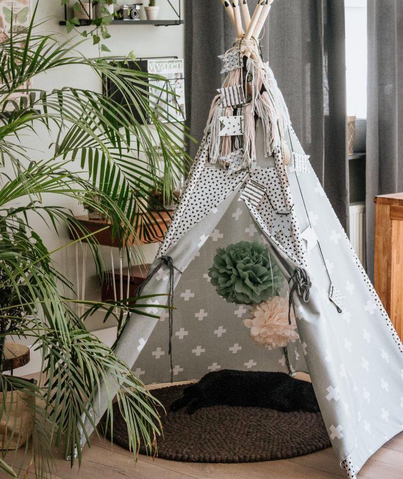grey tepee tent for children