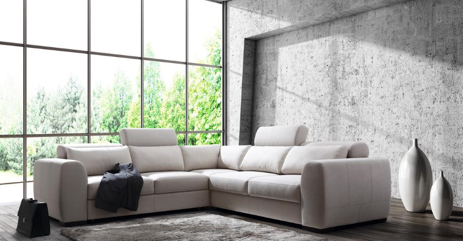 big white corner sofa