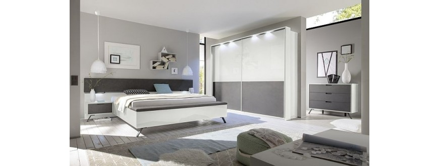 Modern Bedroom Furniture High Gloss White Black