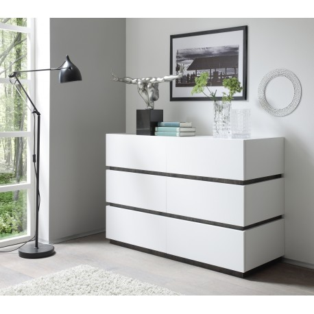 Modern bedroom furniture UK, white and black high gloss furniture ...